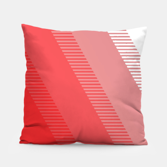 Thumbnail image of coral pink mountains abstract minimal geometric art Pillow, Live Heroes