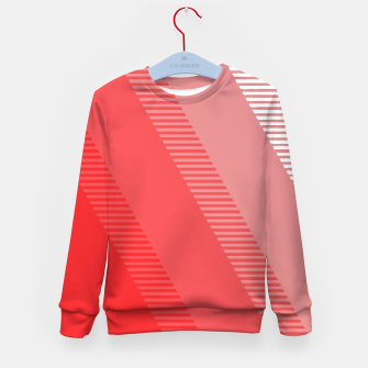 Thumbnail image of coral pink mountains abstract minimal geometric art Kid's sweater, Live Heroes