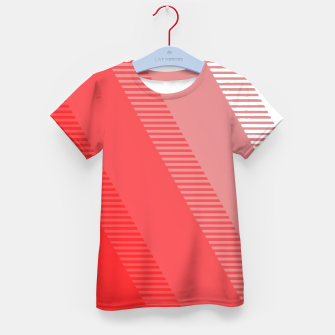 Thumbnail image of coral pink mountains abstract minimal geometric art Kid's t-shirt, Live Heroes