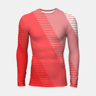 Thumbnail image of coral pink mountains abstract minimal geometric art Longsleeve rashguard , Live Heroes