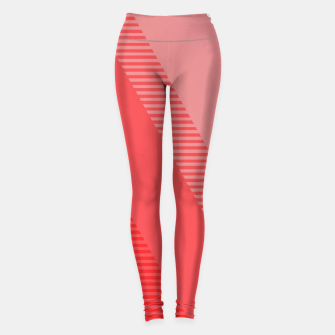 Miniaturka coral pink mountains abstract minimal geometric art Leggings, Live Heroes