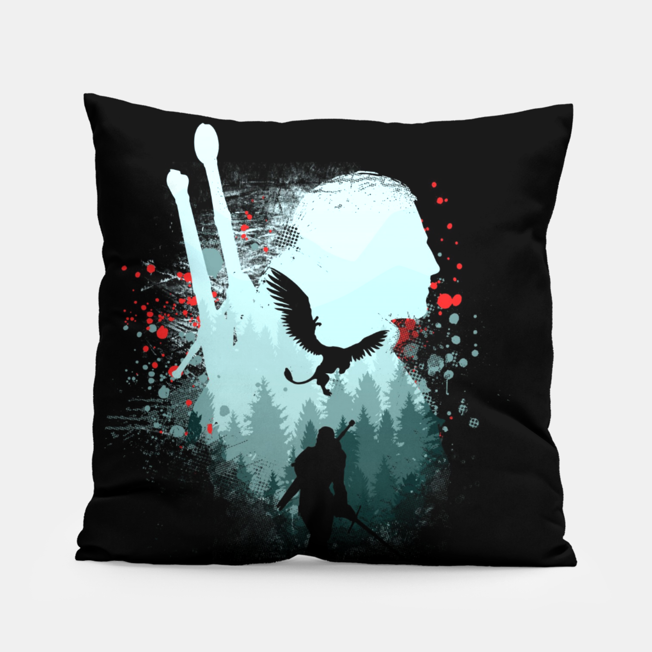 Image of The Witcher Pillow - Live Heroes