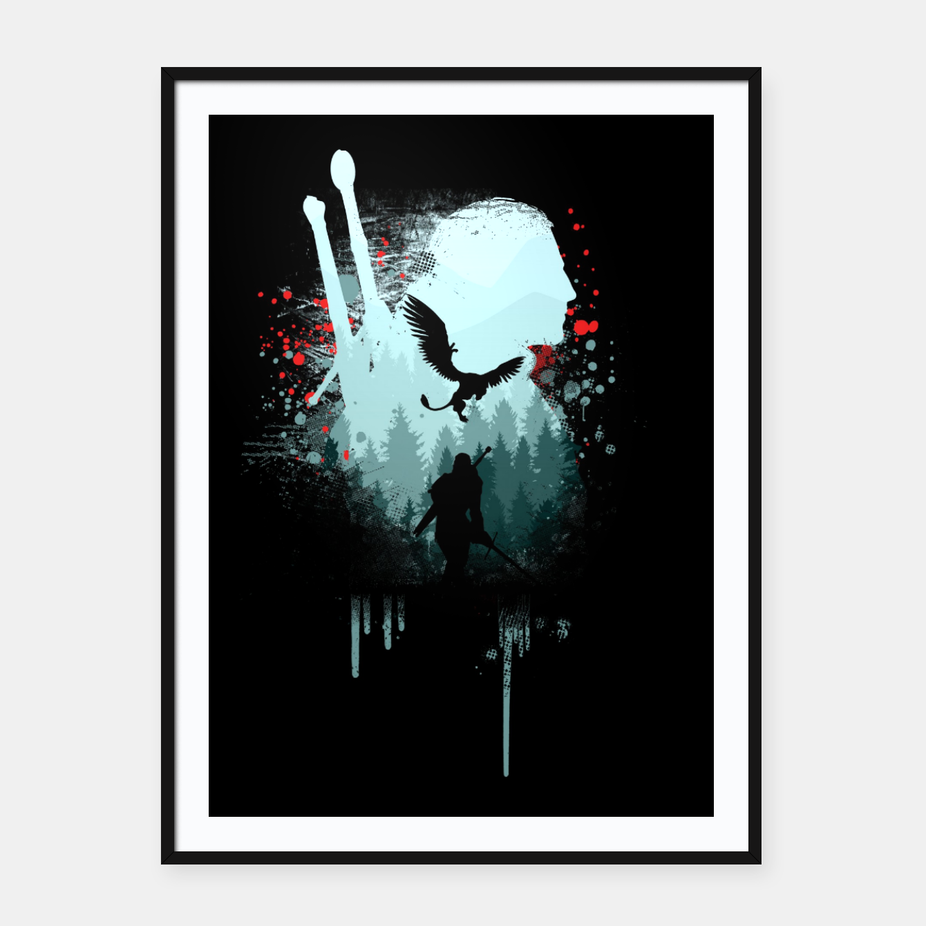 Image of The Witcher Framed poster - Live Heroes