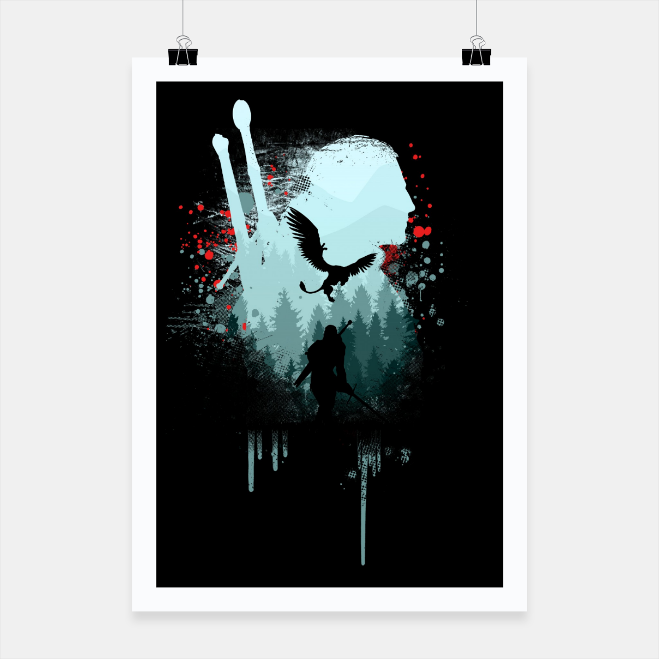 Image of The Witcher Poster - Live Heroes