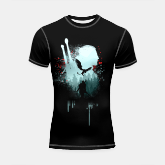 Thumbnail image of The Witcher Shortsleeve rashguard, Live Heroes