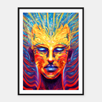 Thumbnail image of Celebrate your mind Framed poster, Live Heroes