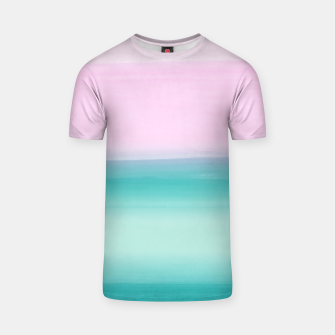 Miniaturka Touching Seafoam Teal Pink Watercolor Abstract #1 #painting #decor #art  T-Shirt, Live Heroes