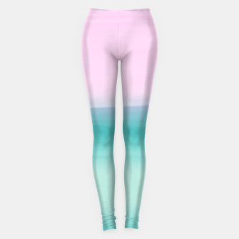 Miniaturka Touching Seafoam Teal Pink Watercolor Abstract #1 #painting #decor #art  Leggings, Live Heroes