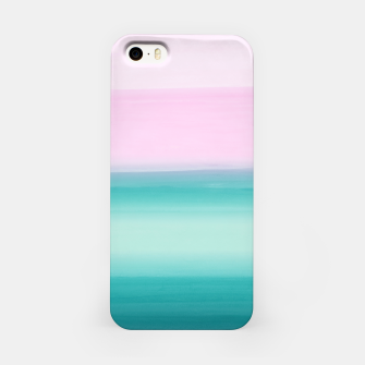 Miniaturka Touching Seafoam Teal Pink Watercolor Abstract #1 #painting #decor #art  iPhone-Hülle, Live Heroes