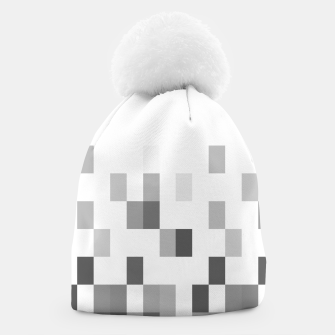 Thumbnail image of Grey scale pixels Beanie, Live Heroes