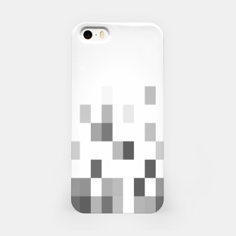 Thumbnail image of Grey scale pixels iPhone Case, Live Heroes
