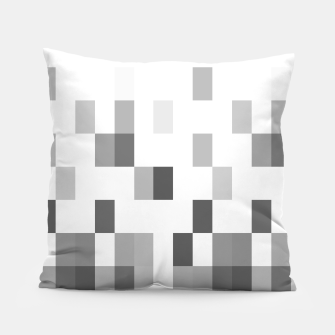 Thumbnail image of Grey scale pixels Pillow, Live Heroes