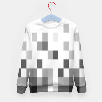 Thumbnail image of Grey scale pixels Kid's sweater, Live Heroes