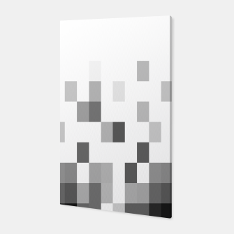 Thumbnail image of Grey scale pixels Canvas, Live Heroes