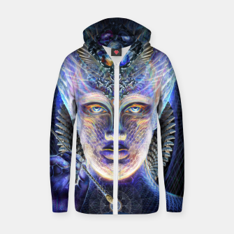 Thumbnail image of Creator of divine worlds Zip up hoodie, Live Heroes