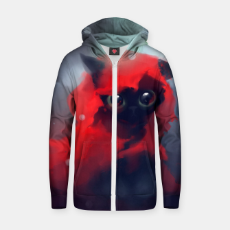 Thumbnail image of Red riding Cat Zip up hoodie, Live Heroes