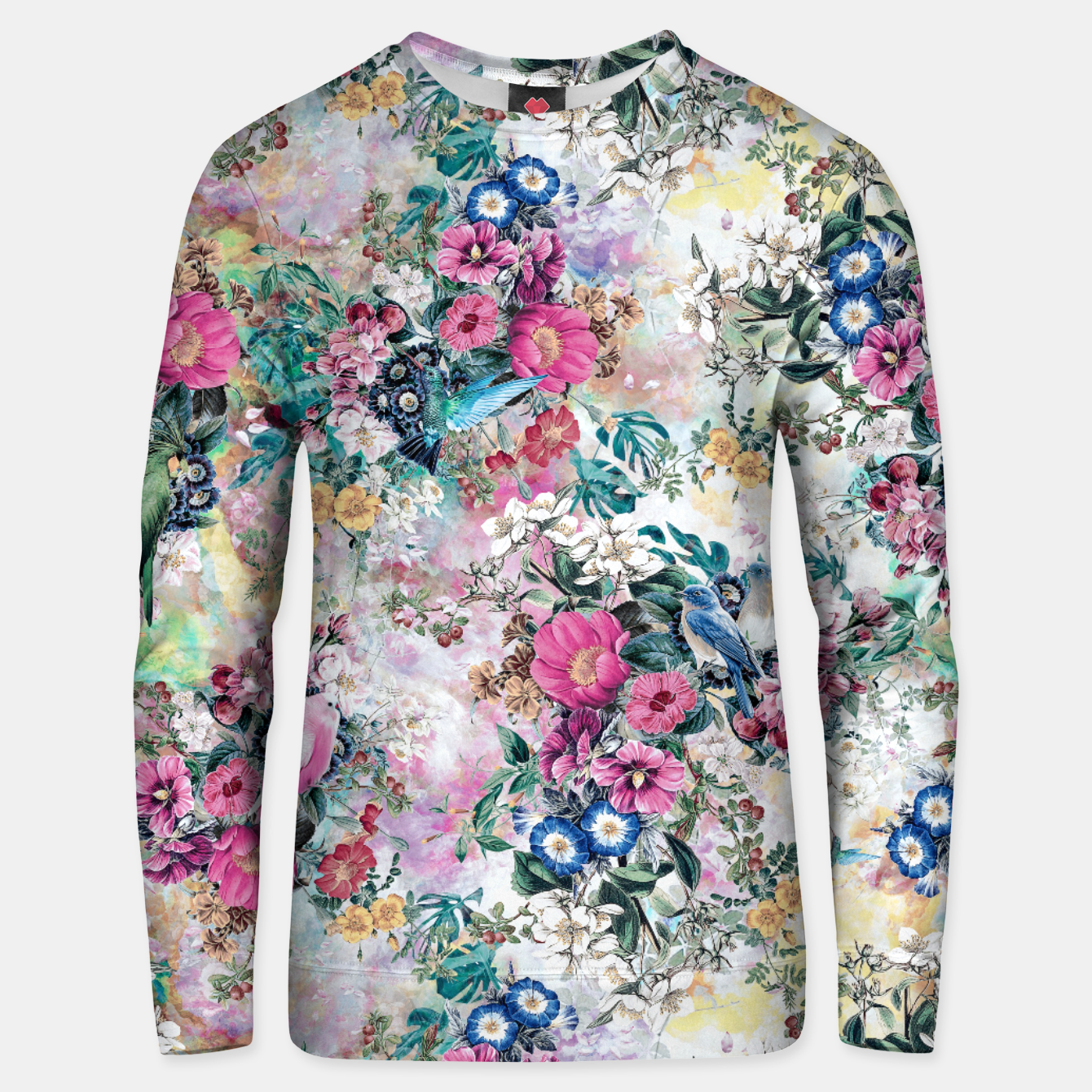 Image of Birds in Flowers Unisex sweater - Live Heroes