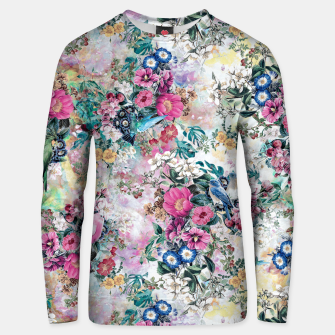 Birds in Flowers Unisex sweater thumbnail image