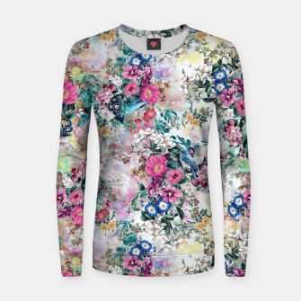 Miniatur Birds in Flowers Women sweater, Live Heroes