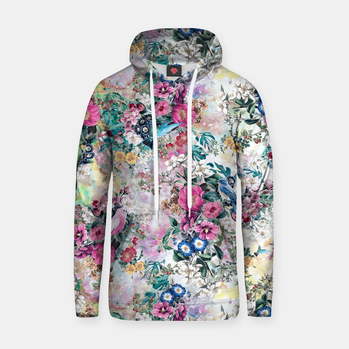 Image of Birds in Flowers Hoodie - Live Heroes