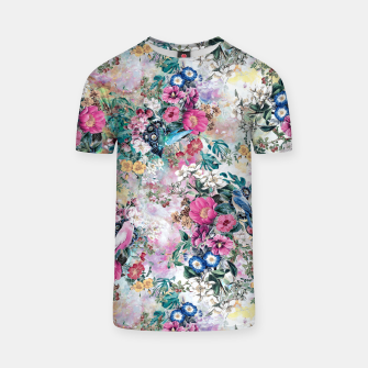 Miniatur Birds in Flowers T-shirt, Live Heroes