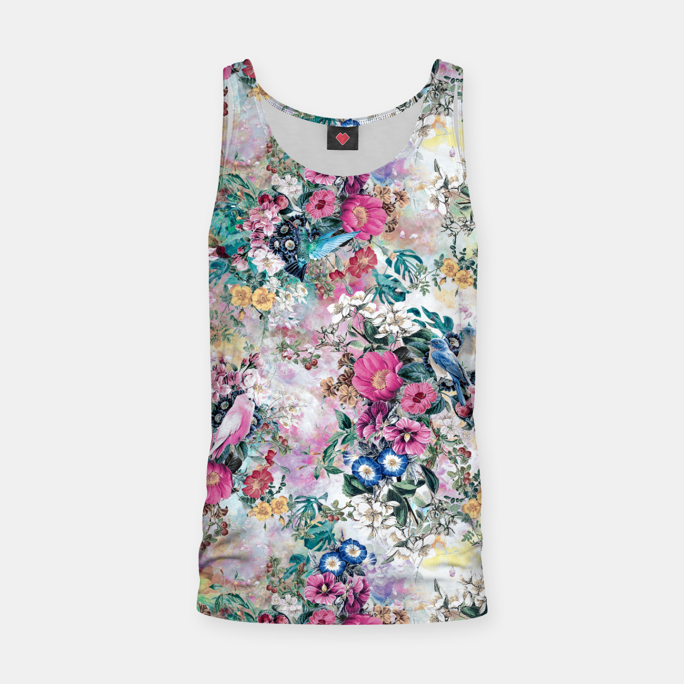 Foto Birds in Flowers Tank Top - Live Heroes