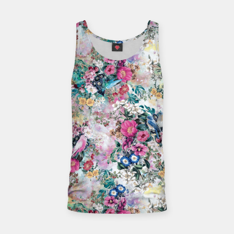 Miniatur Birds in Flowers Tank Top, Live Heroes