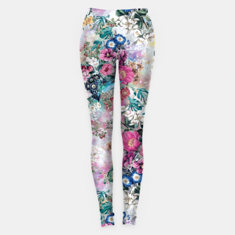 Birds in Flowers Leggings Bild der Miniatur