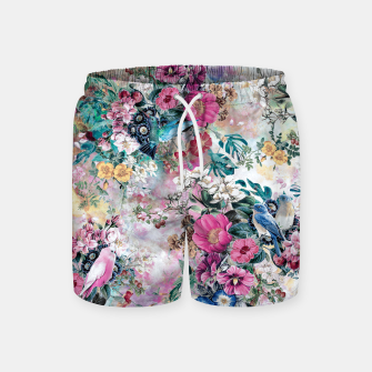 Miniatur Birds in Flowers Swim Shorts, Live Heroes