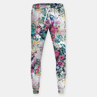 Birds in Flowers Sweatpants Bild der Miniatur