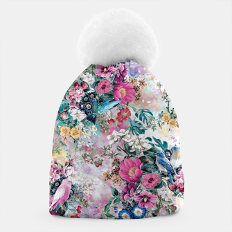 Birds in Flowers Beanie Bild der Miniatur