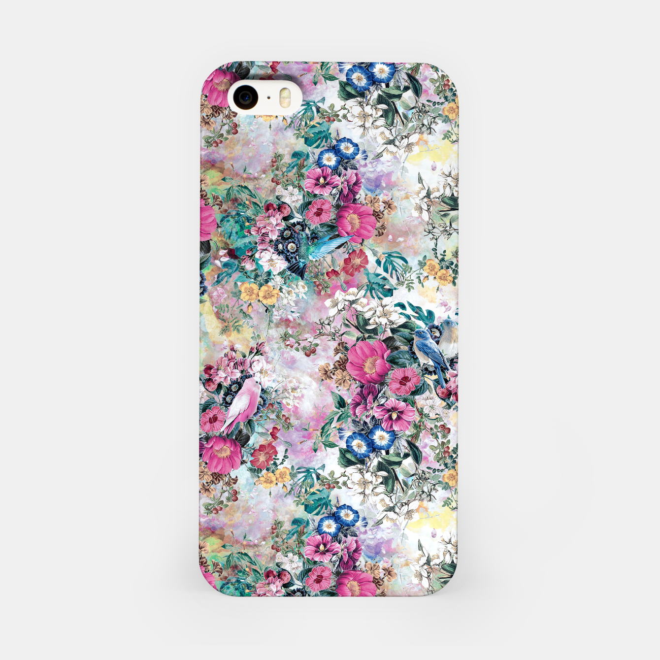 Image of Birds in Flowers iPhone Case - Live Heroes