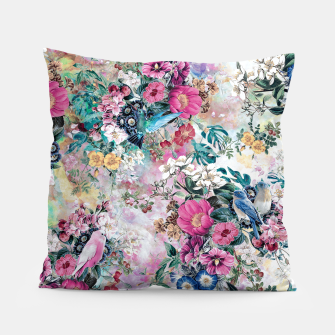 Birds in Flowers Pillow Bild der Miniatur