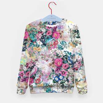 Birds in Flowers Kid's sweater Bild der Miniatur