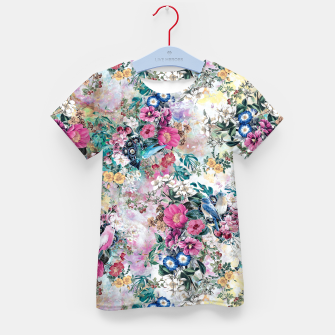 Miniatur Birds in Flowers Kid's t-shirt, Live Heroes