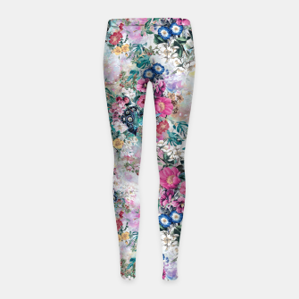 Miniatur Birds in Flowers Girl's leggings, Live Heroes