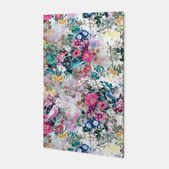 Birds in Flowers Canvas Bild der Miniatur