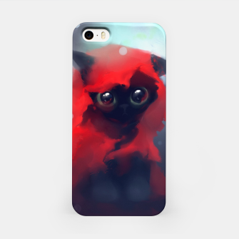 Thumbnail image of Red riding Cat iPhone Case, Live Heroes
