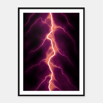 Thumbnail image of Natural Forked Lightning - 01 Framed poster, Live Heroes