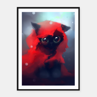 Thumbnail image of Red riding Cat Framed poster, Live Heroes