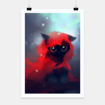 Thumbnail image of Red riding Cat Poster, Live Heroes