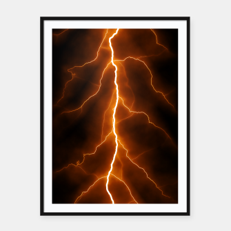 Thumbnail image of Natural Forked Lightning - 02 Framed poster, Live Heroes