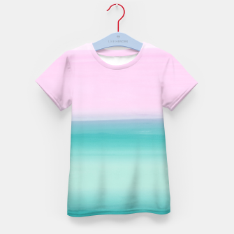 Miniatur Touching Seafoam Teal Pink Watercolor Abstract #1 #painting #decor #art  T-Shirt für kinder, Live Heroes