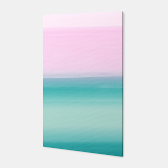 Miniatur Touching Seafoam Teal Pink Watercolor Abstract #1 #painting #decor #art  Canvas, Live Heroes