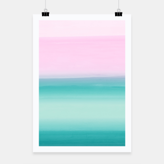 Miniatur Touching Seafoam Teal Pink Watercolor Abstract #1 #painting #decor #art  Plakat, Live Heroes