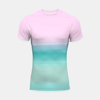 Miniatur Touching Seafoam Teal Pink Watercolor Abstract #1 #painting #decor #art  Shortsleeve rashguard, Live Heroes