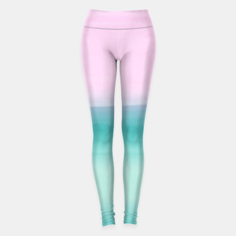 Miniatur Touching Seafoam Teal Pink Watercolor Abstract #1 #painting #decor #art  Leggings, Live Heroes