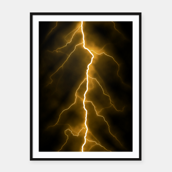 Thumbnail image of Natural Forked Lightning - 03 Framed poster, Live Heroes