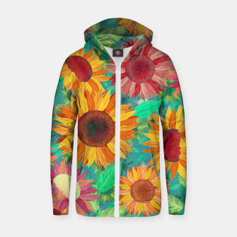 Thumbnail image of Sunflower Garden Zip up hoodie, Live Heroes