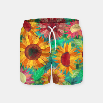 Thumbnail image of Sunflower Garden Swim Shorts, Live Heroes